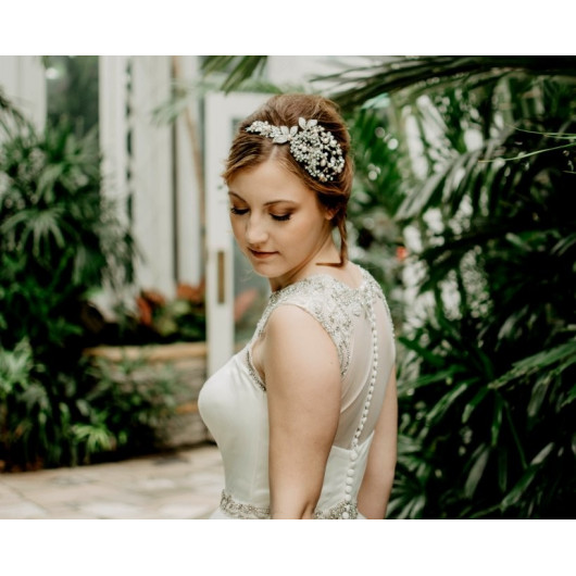 Fine lace bridal dress
