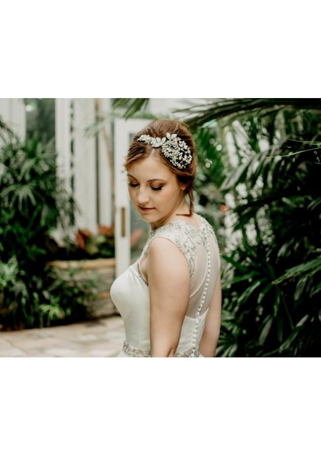 Robe de mariée en dentelle fine