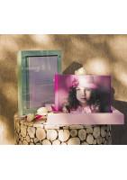 Livre photos avec coffret et verre minéral de présentation