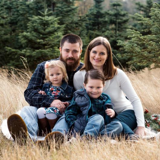Fotograf für die Familie, außen