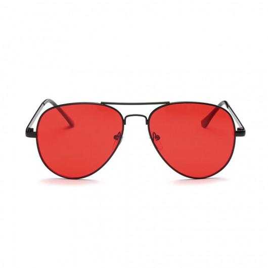 Lunettes soleil pilote verres rouges