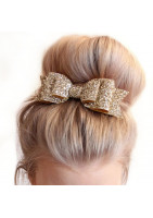 Knot covered with golden glitter