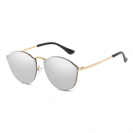 Sunglasses retro style fashion gold with silver glasses